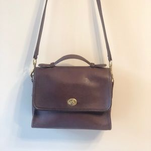 Coach Leather Small Court Cross Body/Shoulder Bag